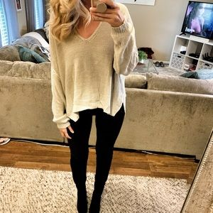 Tan V-Neck Sweater ✨